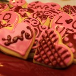 Red Sugar Heart Cookies